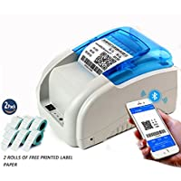 NYEAR mobile phones and computers Bluetooth thermal code stickers bar code label printer machine for Android and IOS Windows(12 Android +100 Apple) +2 free labels (USB+Bluetooth+WIFI)