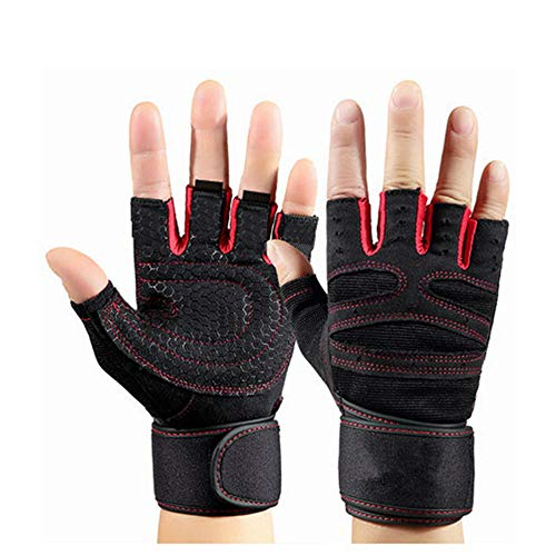 Mbtaua Safety Sports Cycling Gloves Dumbbell Wrist Strap Nonslip Sports Gloves Motorcycle Gloves Driving Gloves