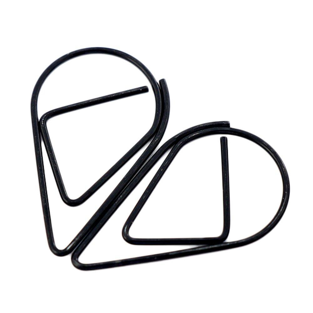 10/x Toruiwa trombones signets Mini en m/étal en forme de goutte deau trombones Marque-page fichiers Colliers de serrage de bureau Fournitures scolaires D/écoration 2.5*1.4/cm Green
