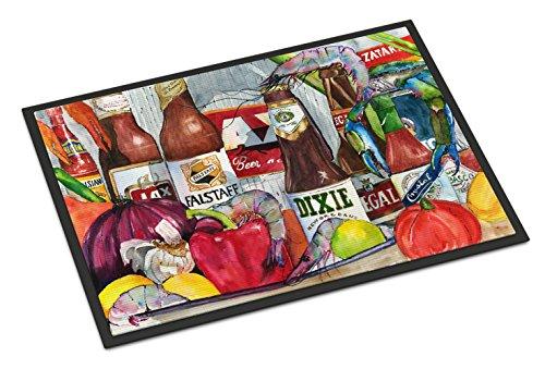 Caroline's Treasures New Orleans Beers and Spices Indoor or Outdoor Doormat, 24