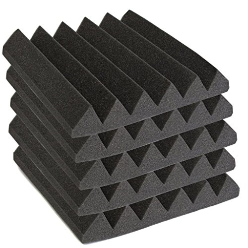 2-x-12-x-12-charcoal-acoustic-wedge-soundproofing-studio-foam-tiles-sound-insulation-sponge