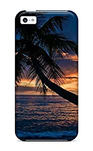 Defender Case With Nice Appearance (tropical Sunsets) For Iphone 5c
