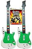 Xbox 360 2x Wireless Guitar Controllers + Guitar Hero World Tour Video Game kit bundle set GH RB rock music band