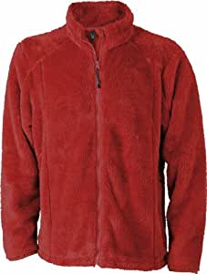James & Nicholson Men's Jn562 Highloft Fleece Jacket Medium Red
