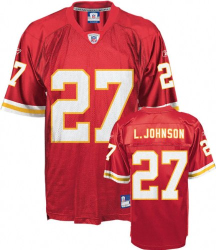 Kansas City Chiefs Red Jersey (Larry Johnson Jersey: Reebok Red Replica #27 Kansas City Chiefs Jersey - X-Large)