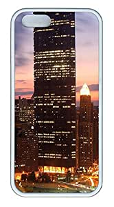 iPhone 5 5S Case Pittsburgh At Night TPU Custom iPhone 5 5S Case Cover White