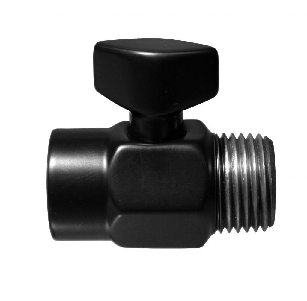 Westbrass D309-62 1/2-Inch Shower Arm Volume Control Trickle Valve, Matte Black