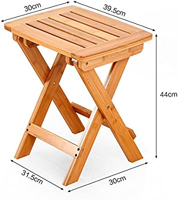 Remarkable Amazon Com Gaoyang Small Stool Wood Square Stool Folding Caraccident5 Cool Chair Designs And Ideas Caraccident5Info