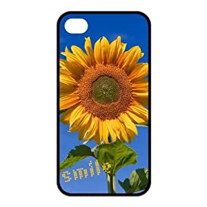 Painted Sunflower TPU Hard back phone Case cover Iphone 4s 4