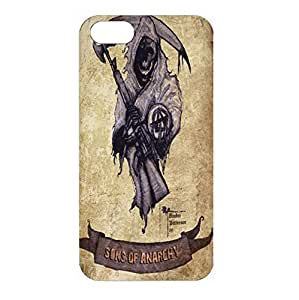 Iphone 4 Case Sons of Anarchy 3D ( SOA ) Vintage Logo Full Protection Skin