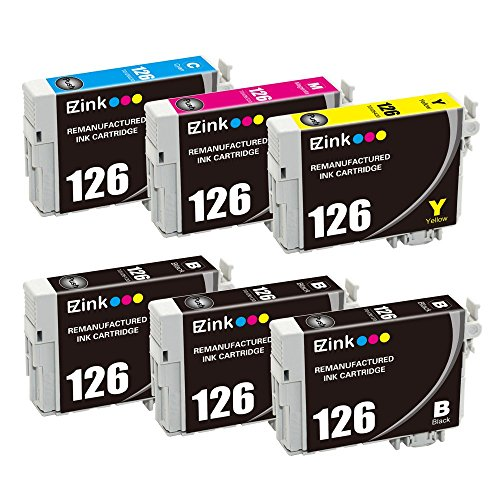 E-Z Ink (TM) Remanufactured Ink Cartridge Replacement For Epson 126 (3 Black, 1 Cyan, 1 Magenta, 1 Yellow) 6 Pack Photo #1