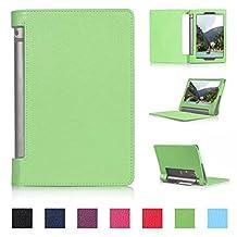 Tsmine Lenovo Yoga Tab 3 8 8.0-inch Tablet Flip Case - Auto Sleep & Wake up Slim Magnetic Smart Cover Folio Protective PU Leather Case Stand for Lenovo Yoga Tab 3 8 850F, Green
