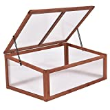 Heaven Tvcz Garden Portable Wooden Green House Cold Frame Raised Plants Bed Protection for Extending Growing
