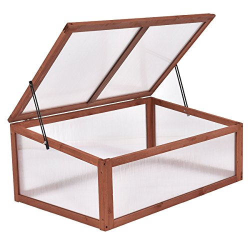 Maximumstore Garden Portable Wooden Green House Cold Frame Raised Plants Bed Protection New by Maximumstore (Image #3)