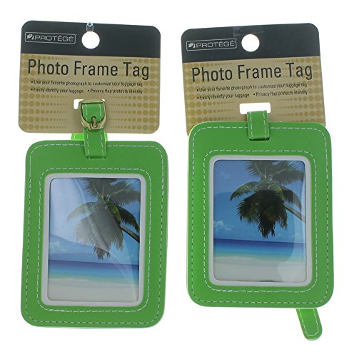 Set of 2 Protege Photo Frame Luggage Tags Suitcase ID - Luggage Tag Picture Frame
