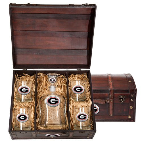 Georgia Bulldogs Decanter and Glasses Gift Set