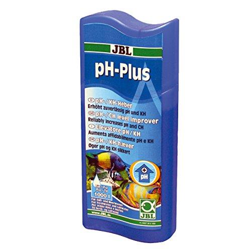 JBL 2305600 Wasseraufbereiter zur Erhöhung der pH-Werte für Süß- und Meerwasser Aquarien, 100 ml, ph-Plus 23056