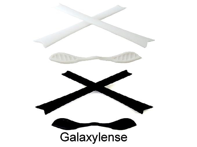 94f1097ab1 Amazon.com  Galaxy Replacement Nose Pads   Earsocks Rubber Kits 4 Oakley  Radar Path Black White  Clothing