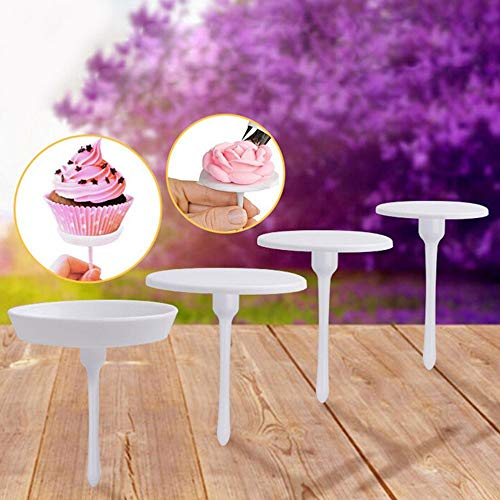 Stands - 4pcs Cake Cupcake Stand Icing Cream Decorating Flower Needle Nail Baking - Cake Cakes Eggs Woods Deviled Decorating Supplies Accessories Fondant Tools Chocolate Flower -