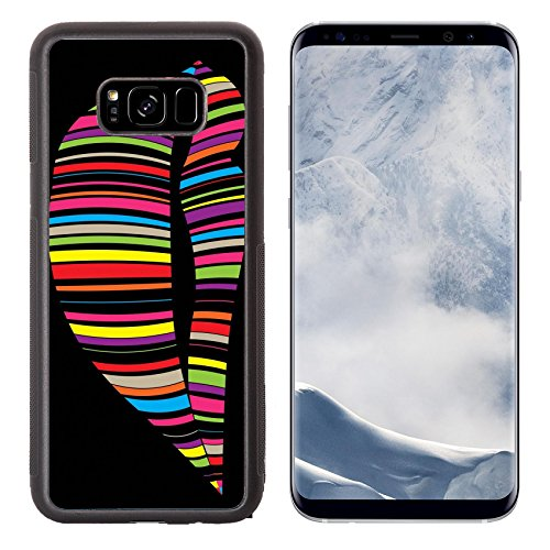 Luxlady Samsung Galaxy S8 Plus S8+ Aluminum Backplate Bumper Snap Case IMAGE ID 31501761 colorful bar in lip shape on black - In Target Commerce