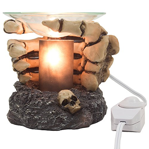 [Bone Chilling Skeleton Hands Electric Oil Warmer or Tart Burner for Spooky Halloween Decorations & Scary Gothic Decor As Whimsical Home Fragrance and Aromatherapy] (Halloween Decor For Home)