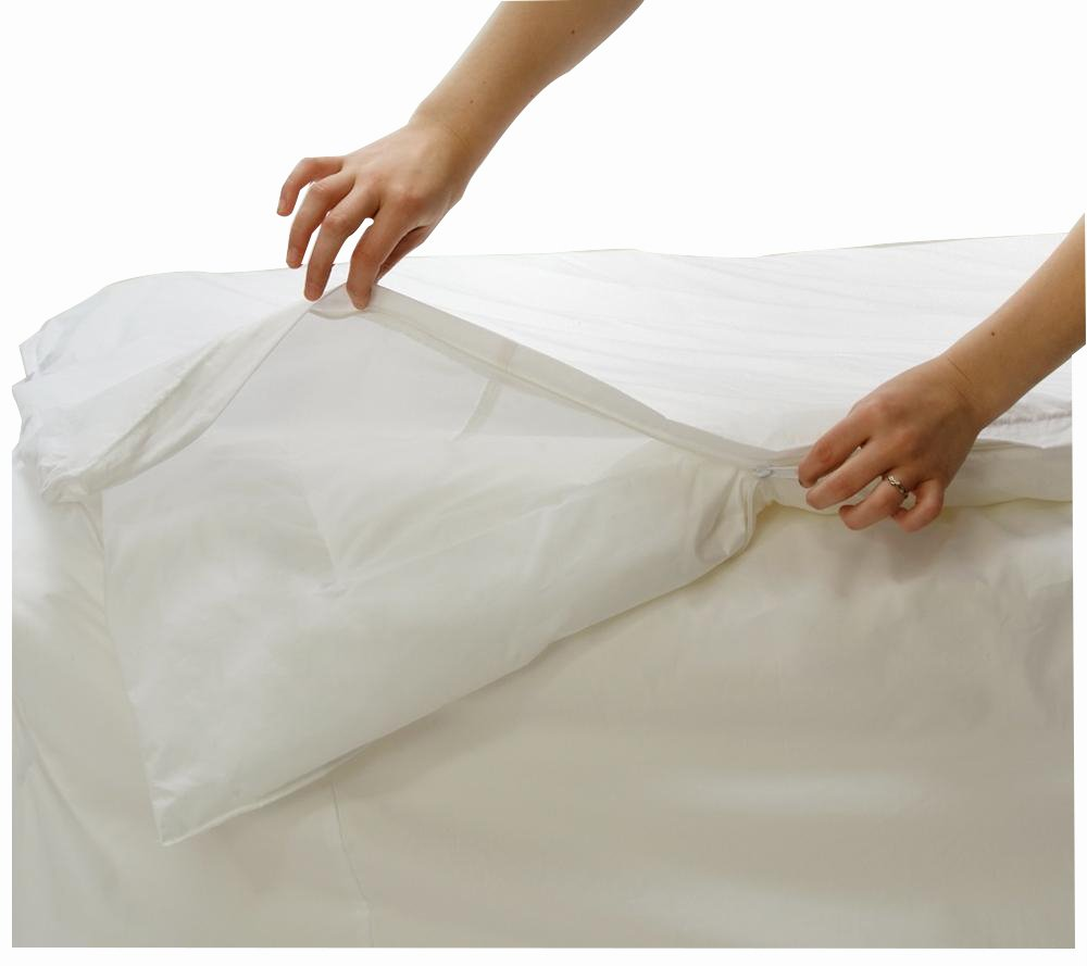 100 Cotton Dust Mite Bed Bug Proof Duvet Cover 135x200 Ebay
