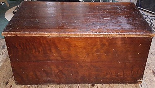 Antique BIG 18'' X 40'' X 22'' Solid Cedar Wood Chest or Trunk OLDIE sj by Unknown