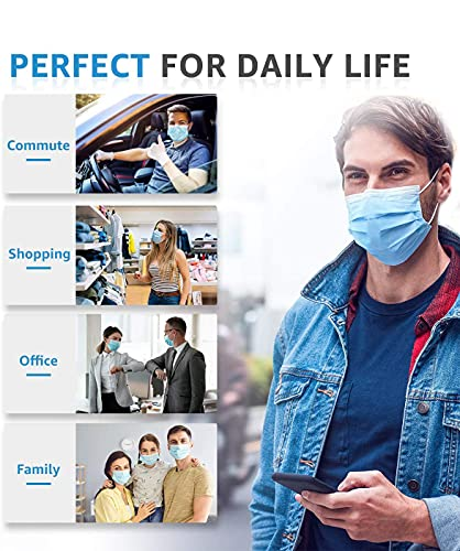 DALUCI-Non-Woven-Fabric-Disposable-Face-Mask-With-Nose-Clip-Blue-Without-ValvePack-Of-100-For-Unisex