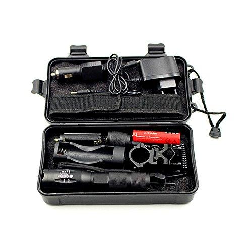 New Option E, L2 : Z30 Caa luz 5000lm XM-L L2 led lanterna ttica torch zoomable 5 Modos Ajustvel com arma de montagem interruptor de controle remoto