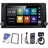 Car Double 2 Din GPS Radio DVD Player HIZPO in Dash Stereo 6.2 Digital Touch Screen Bluetooth Navigation