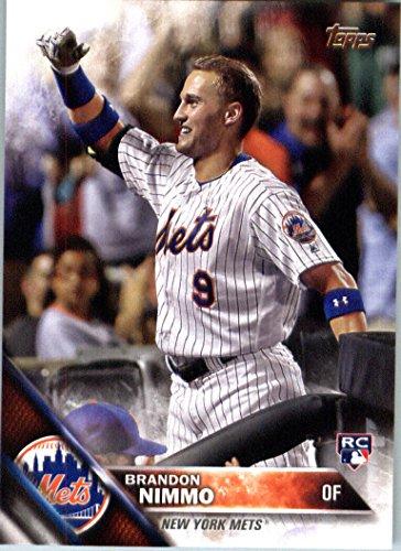 [2016 Topps Update #US74 Brandon Nimmo New York Mets Baseball Rookie Card in Protective Screwdown Display Case] (Mets Display Cases)