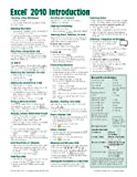 img - for Microsoft Excel 2010 Introduction Quick Reference Guide (Cheat Sheet of Instructions, Tips & Shortcuts - Laminated Card) by Beezix Inc (2010-05-01) book / textbook / text book