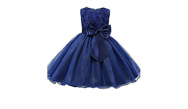 Kids Girl Highdas vestido de fiesta vestido de fiesta de la boda ropa formal adolescente azul oscuro 70CM: Amazon.es: Ropa y accesorios