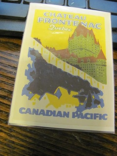 very rare circa 1925 Canadian Pacific railroad poster stamp, ()