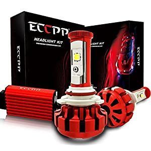 ECCPP LED Headlight Bulbs Conversion Kit High Power Bright- 9005 - 80W,9600Lm 6K Cool White CREE - 3 Yr Warranty
