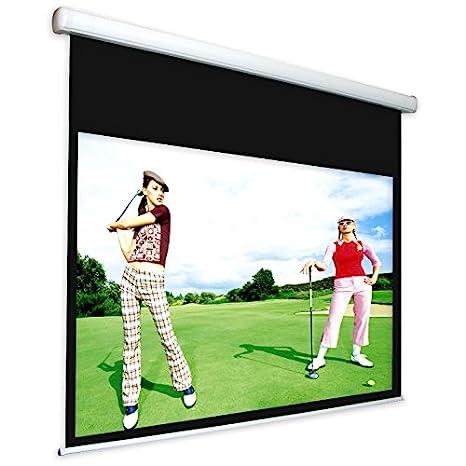Pantalla Proyector con bordes motorizada 230 x 173 cm 4: 3, toalla ...