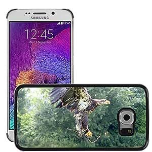 Etui Housse Coque de Protection Cover Rigide pour // M00135342 Ave Rapaz Pájaros Águila // Samsung Galaxy S6 EDGE (Not Fits S6)