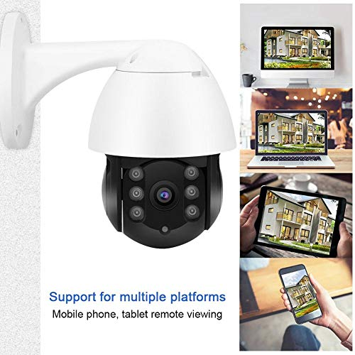 1080P WiFi PTZ Security Camera Outdoor Waterproof P2P Motion Detection TCP/IP Two-Way Audio Wireless CCTV Dome Camera (US Plug)