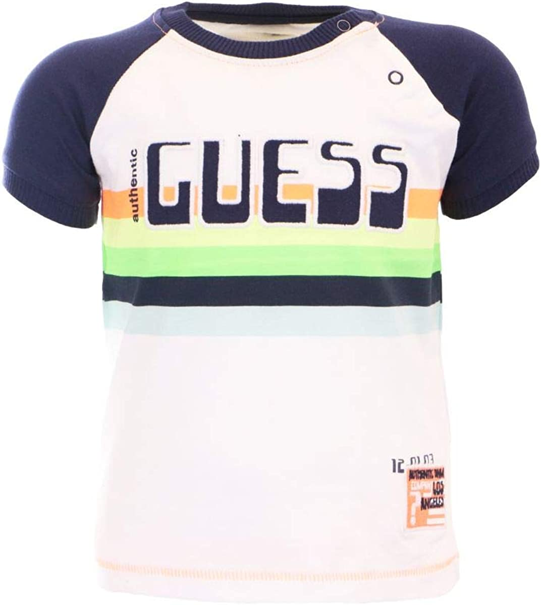 GUESS? Camiseta de algodón para niño blanco 60 cm (3-6 meses): Amazon.es: Ropa y accesorios