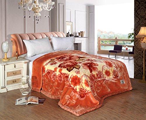 BDUK doppellagige Raschel Überwurf Decke Winter Elegant Warm Farben ultrasoftes Main Schlafzimmer Decken