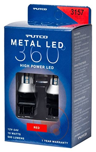 Putco Lighting 343157R-360 Metal LED 360 3157 Bulb Type Red Metal LED 360