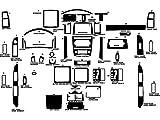 Rdash Dash Kit Decal Trim for Jeep Grand Cherokee 2005-2007 - Carbon Fiber 3D (Red)