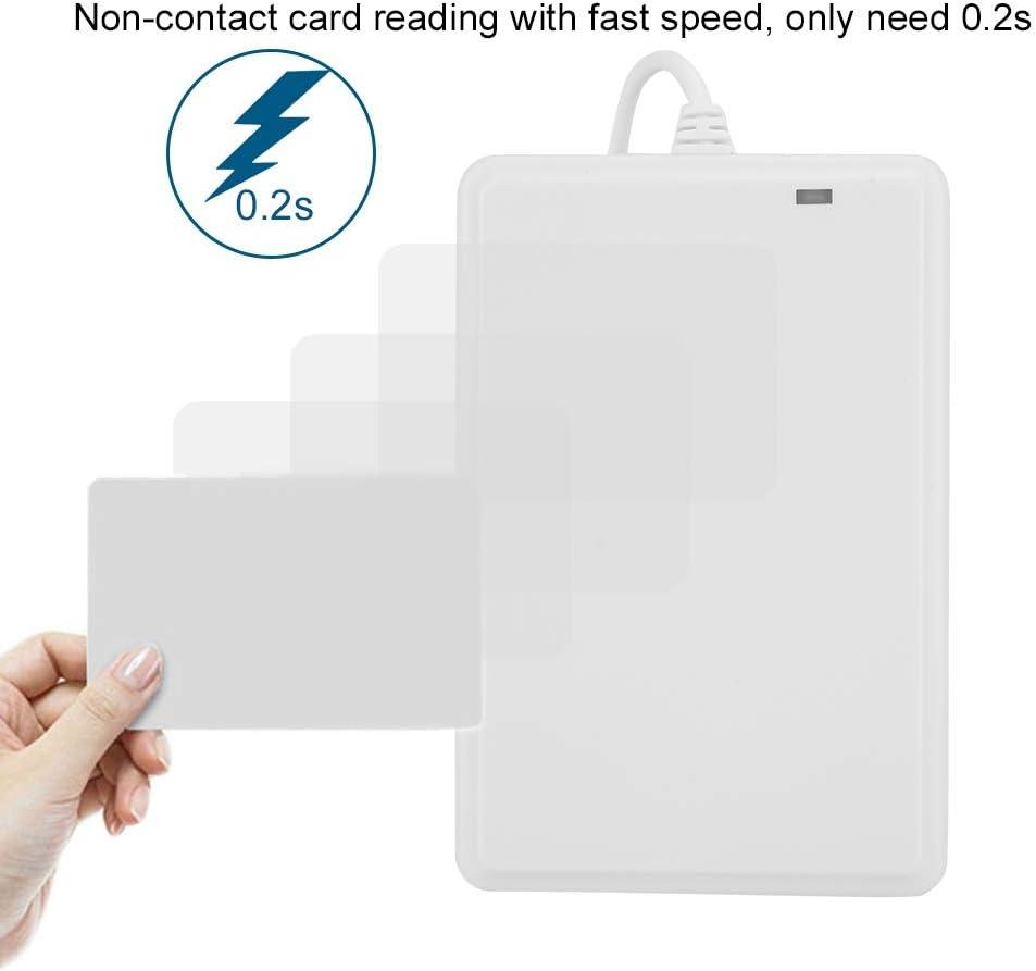 Wandisy Door Card Reader 13.56Mhz//IC Card IC//ID Card Non-Contact USB Drive-Free NFC Door Access Card Reader