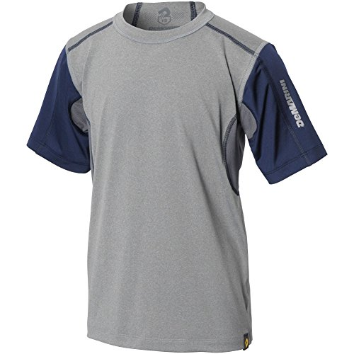 Demarini Youth Comotion Mid Sleeve T-Shirt, Grey/Navy, Mediu