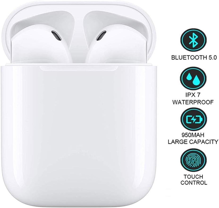 Auriculares Bluetooth, Auriculares inalámbricos Bluetooth 5.0, Movimiento Control táctil,Funda Impermeable de Carga rápida,Reducción Ruido micrófono 3D,para Apple Android/iPhone/Huawei/AirPods Pro