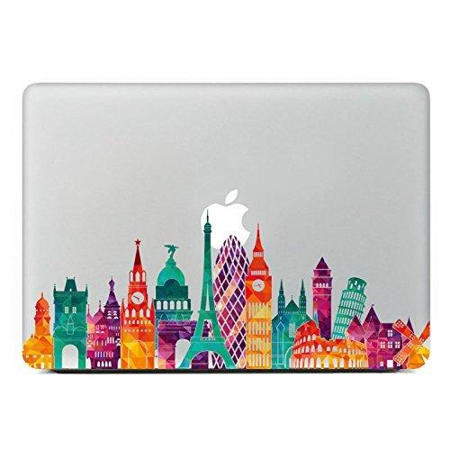 Grand Line European architecture Removable Vinyl Decal Sticker Skin for Macbook Pro Air Mac 15' Laptop