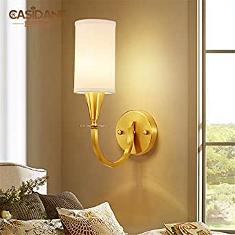 JhyQzyzqj Wall Sconce Wall lights Nordic creative lighting living room bedroom bedside aisle balcony bathroom All copper wall lights before mirror lamp single head dual head (1037cm) wall lights
