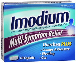 Imodium Multi-Symptom Relief, Caplets 18 caplets (Pack of 2)