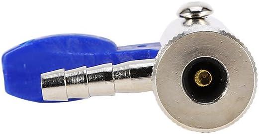m herramienta de v/álvula Niunion de 6 mm conector de la v/álvula del neum/ático v/álvula de inflado de la l/ínea a/érea del neum/ático Clip en el portabrocas Tipo de v/álvula piezas de autom/óvil