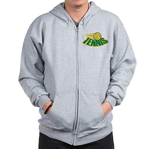 Attitude Zip Hoodie (CafePress Tennis Attitude - Zip Hoodie, Classic Hooded Sweatshirt With Metal Zipper)